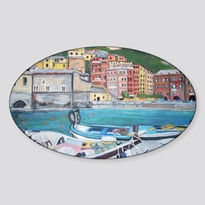 Vernazza Harbor, Italy Sticker (Oval)