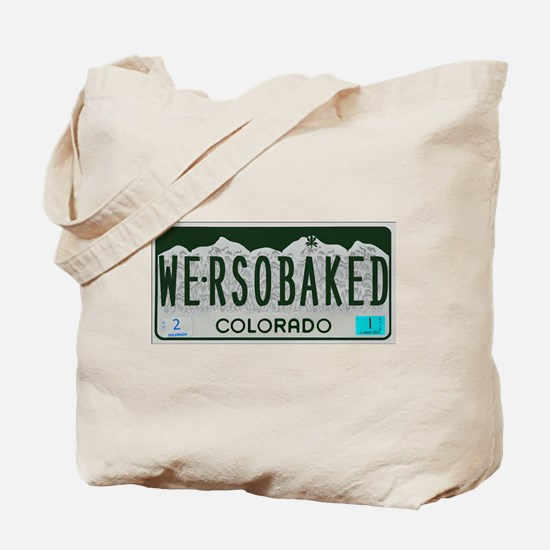 Funny Colorado License Plate Tote Bag