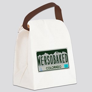 Funny Colorado License Plate Canvas Lunch Bag