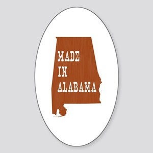 Made In Alabama Sticker (Oval)