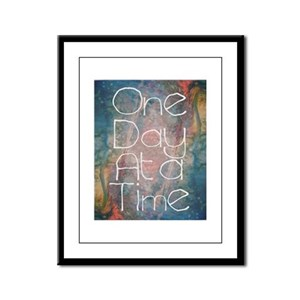 One Day at a Time Abstract Art Framed Panel Print