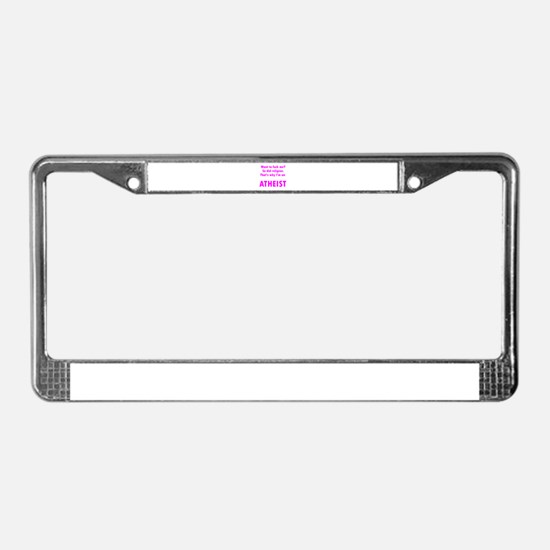 Want To Fuck Me? License Plate Frame