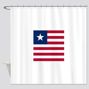 Flag of Liberia Shower Curtain
