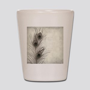 Peacock Feather Shot Glass