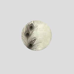 Peacock Feather Mini Button
