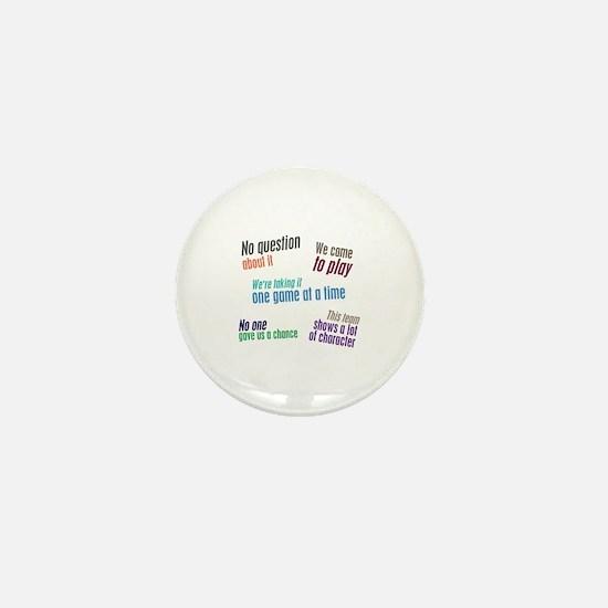Sports Cliches Mini Button
