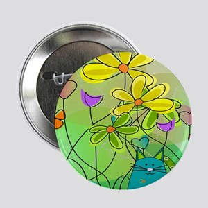 """Spring Flowers 112 2.25"""" Button"""