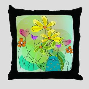 Spring Flowers 112 Throw Pillow