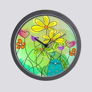 Spring Flowers 112 Wall Clock