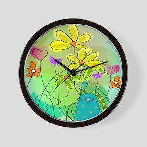Spring Flowers 112 Wall Clock