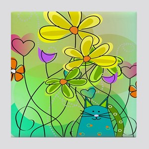 Spring Flowers 112 Tile Coaster