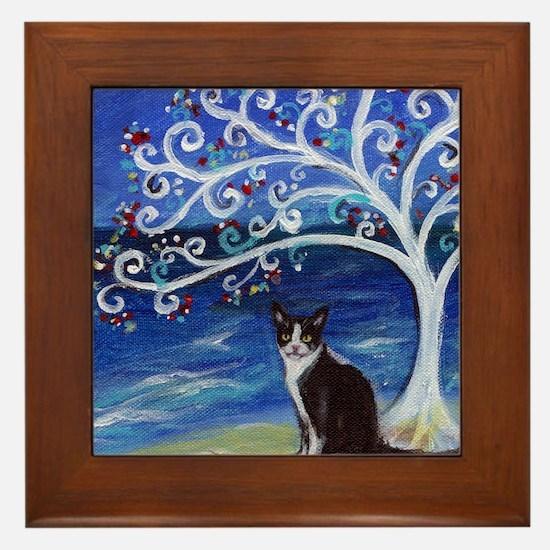 Cute Angie Framed Tile