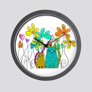 Spring Flowers 14 Wall Clock