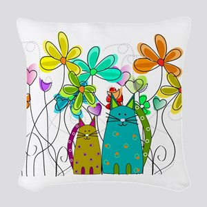 Spring Flowers 14 Woven Throw Pillow