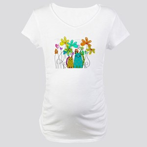 Spring Flowers 14 Maternity T-Shirt