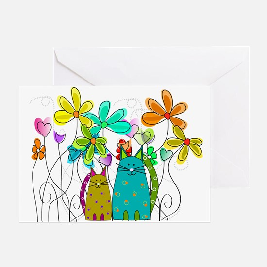 Spring Flowers 14 Greeting Cards