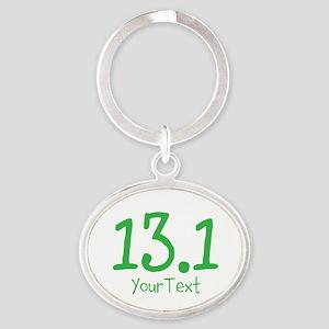 Customize GREEN 13.1 Oval Keychain