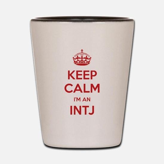 Keep Calm Im An INTJ Shot Glass