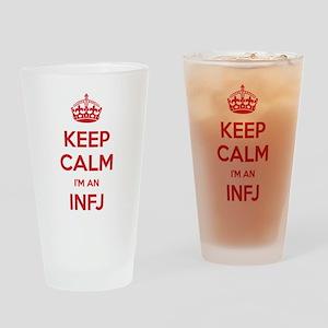 Keep Calm Im An INFJ Drinking Glass