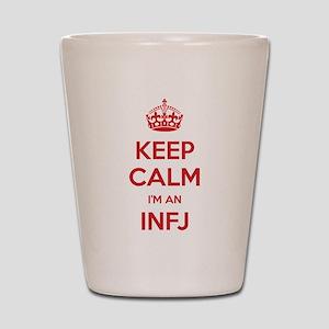 Keep Calm Im An INFJ Shot Glass