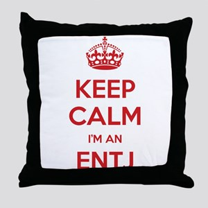 Keep Calm Im An ENTJ Throw Pillow