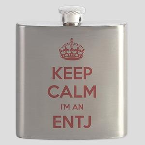 Keep Calm Im An ENTJ Flask