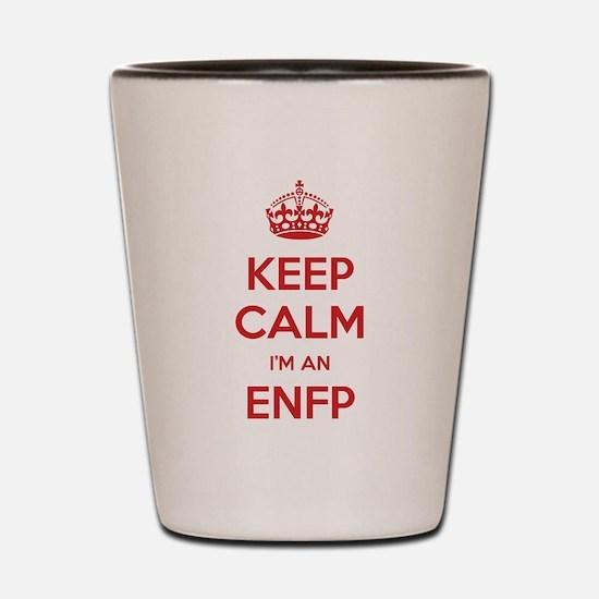 Keep Calm Im An ENFP Shot Glass