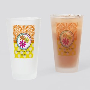 Happy Social worker month 3 Drinking Glass