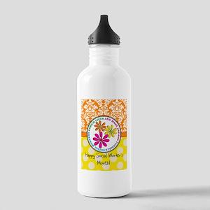 Happy Social worker month 3 Water Bottle