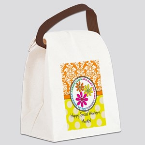 Happy Social worker month 3 Canvas Lunch Bag