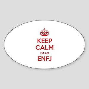 Keep Calm I'm An ENFJ Oval Sticker