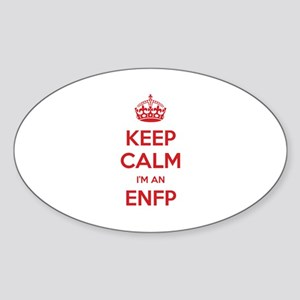 Keep Calm I'm An ENFP Oval Sticker