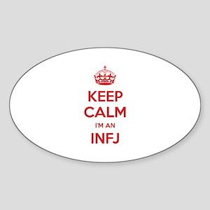 Keep Calm I'm An INFJ Oval Sticker