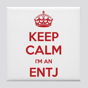 Keep Calm I'm An ENTJ Tile Coaster