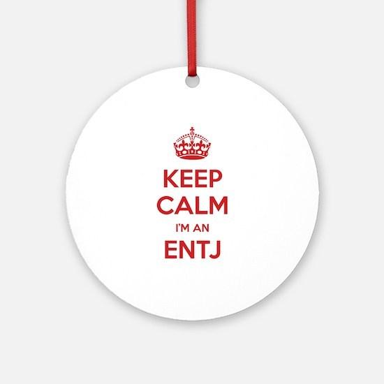 Keep Calm I'm An ENTJ Round Ornament