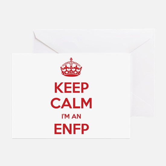 Keep Calm I'm An ENFP Greeting Card 10 Pack