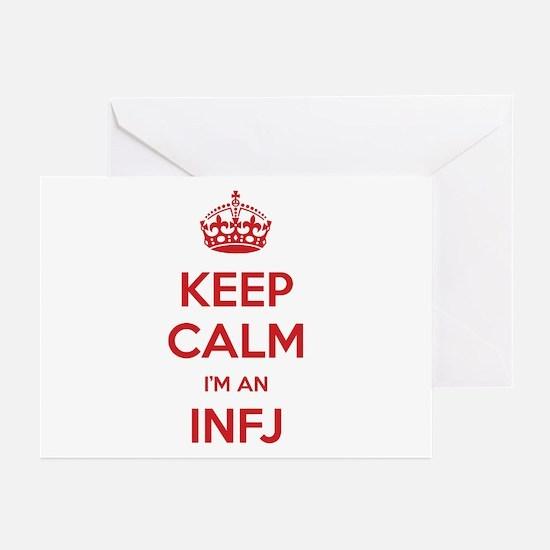 Keep Calm I'm An INFJ Greeting Card 10 Pack