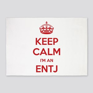 Keep Calm I'm An ENTJ 5'x7' Area Rug