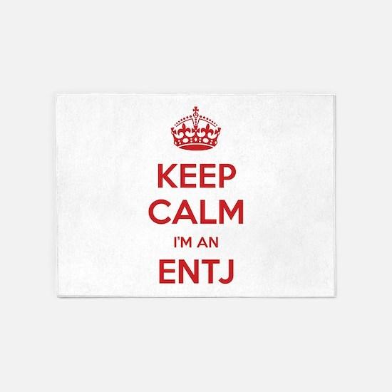 Keep Calm I'm An ENTJ 5'x7' Area Rug