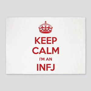 Keep Calm I'm An INFJ 5'x7' Area Rug