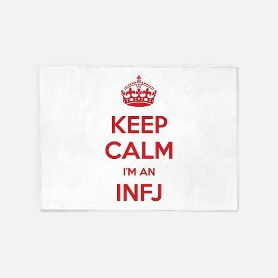 Keep Calm I'm An INFJ 5'x7' Area Rug