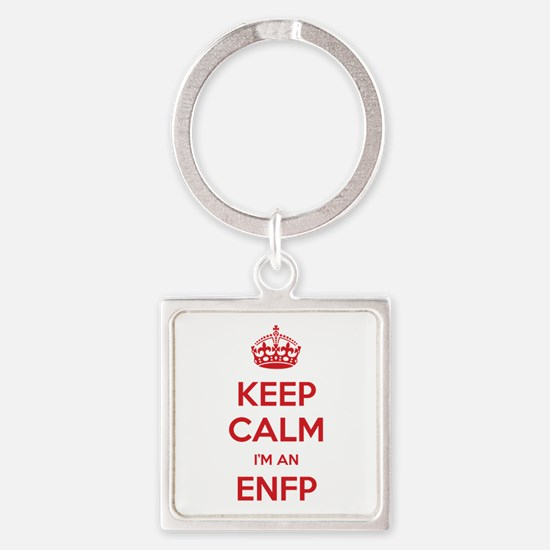Keep Calm I'm An ENFP Square Keychain