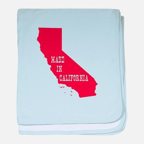 Made in California baby blanket