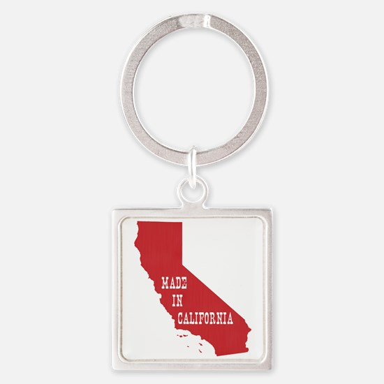 Made in California Square Keychain