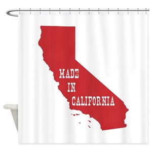 California Map Shower Curtains