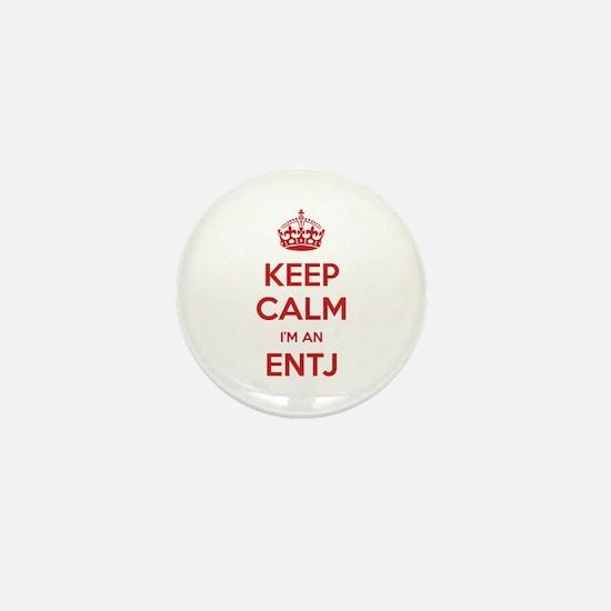 Keep Calm I'm An ENTJ Mini Button