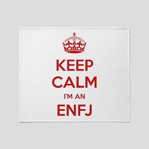 Keep Calm I'm An ENFJ Throw Blanket