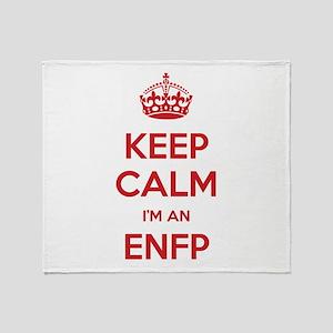 Keep Calm I'm An ENFP Throw Blanket