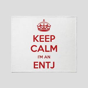 Keep Calm I'm An ENTJ Throw Blanket