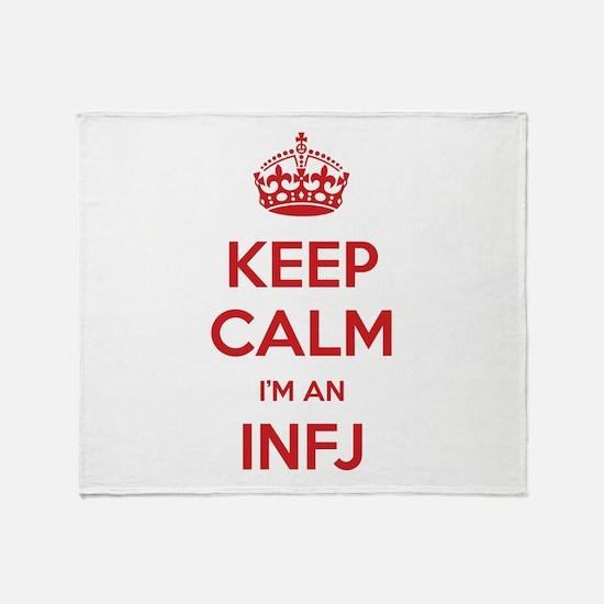 Keep Calm I'm An INFJ Throw Blanket